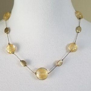 Premier Designs Jewelry - Premier Designs Necklace  Gold Tone Glass Beads